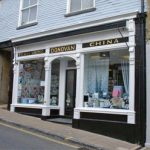 Newly painted shop front